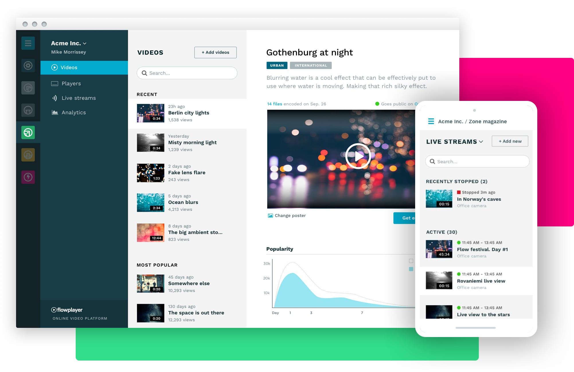 flowplayer video